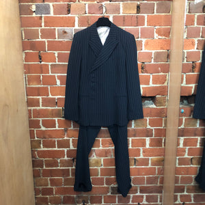 GAULTIER 1980s pinstriped 'man' suit!