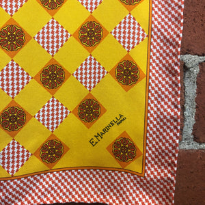 E MARINELLA pure silk small scarf or pocket square