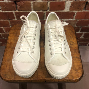 COMME DES GARCONS pony hair and leather sneakers