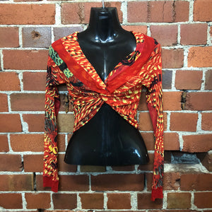 GAULTIER RARE twist front off the shoulder mesh top