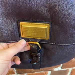 MARC JACOBS leather messenger handbag