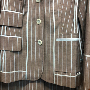 MOSCHINO pinstriped 'inside out' suit