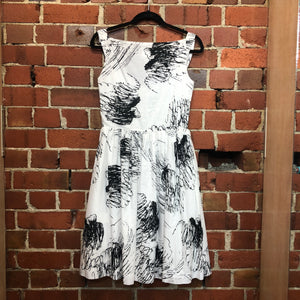 WESTWOOD sribble print cotton dress