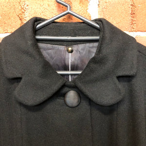 1960s wool coat with flower collar
