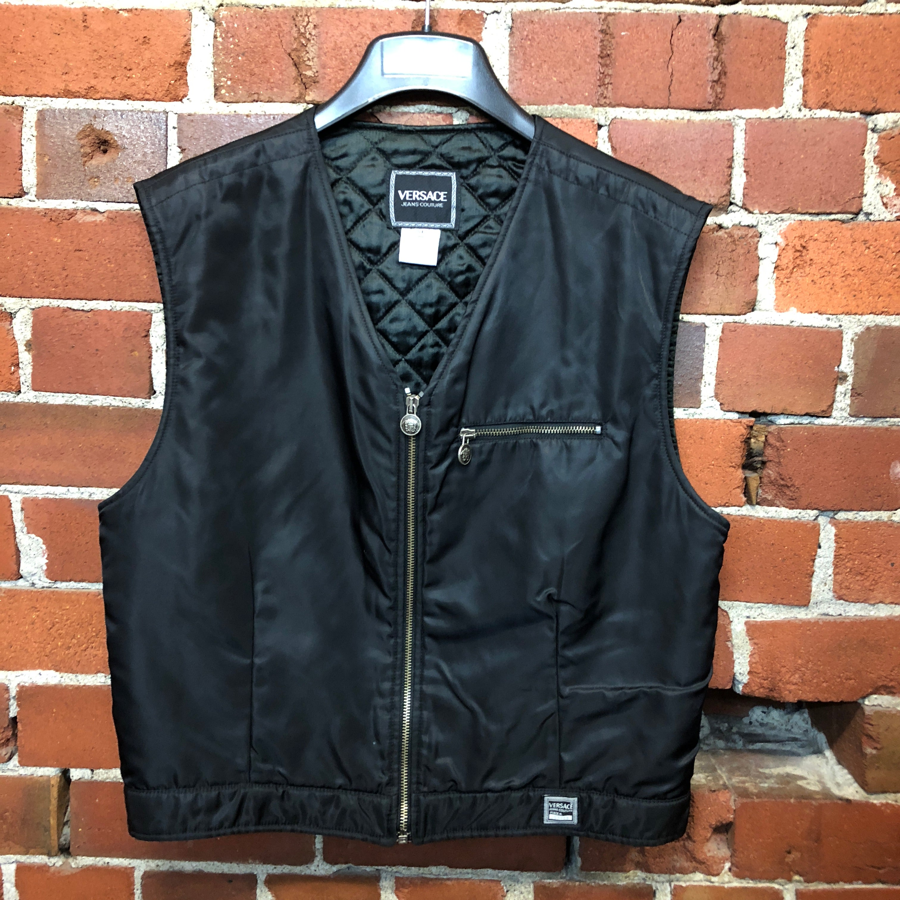VERSACE 1990s nylon quilted vest