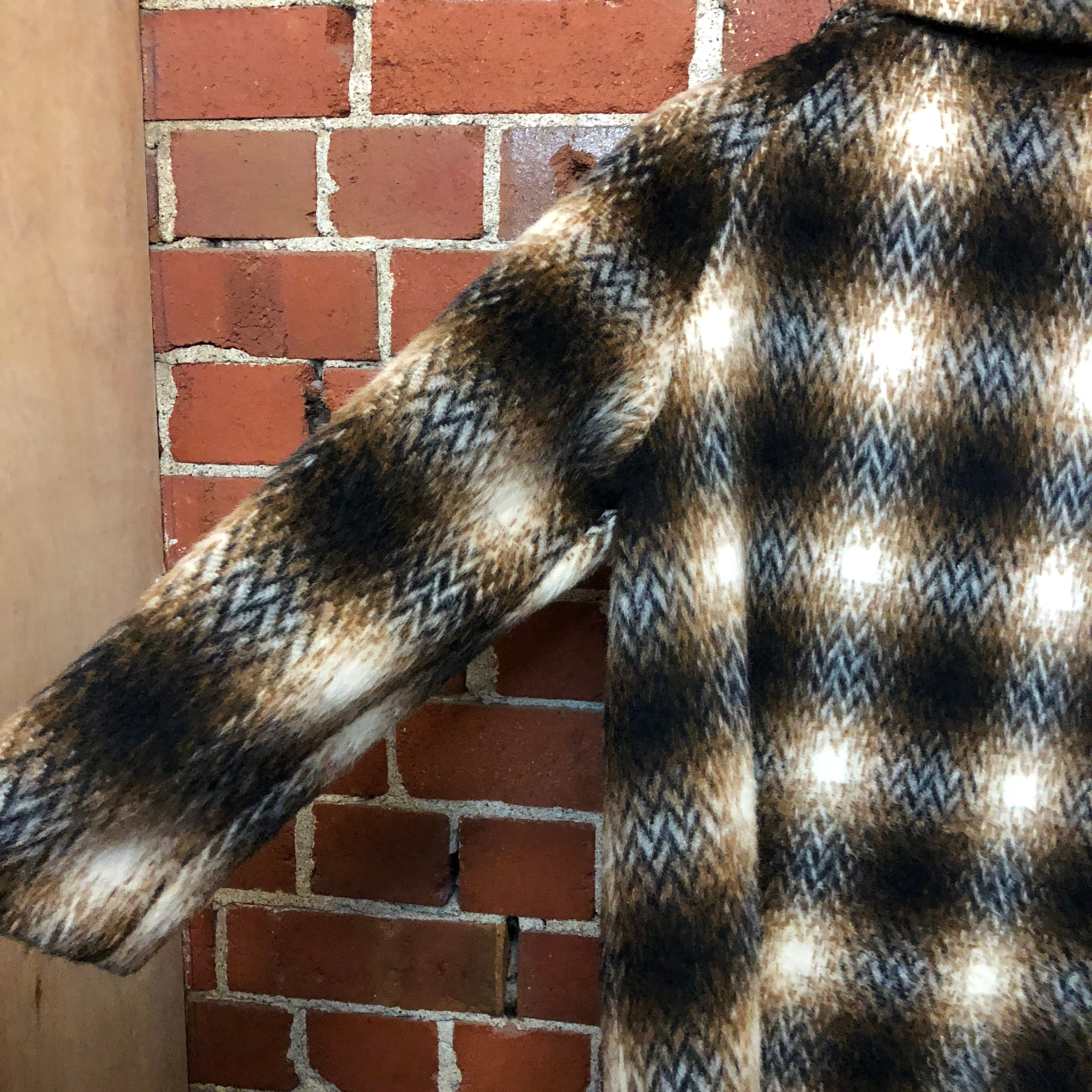 1960s checked wool coat