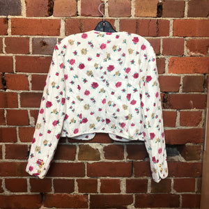MOSCHINO quilted floral 1980s jacket for Lisa