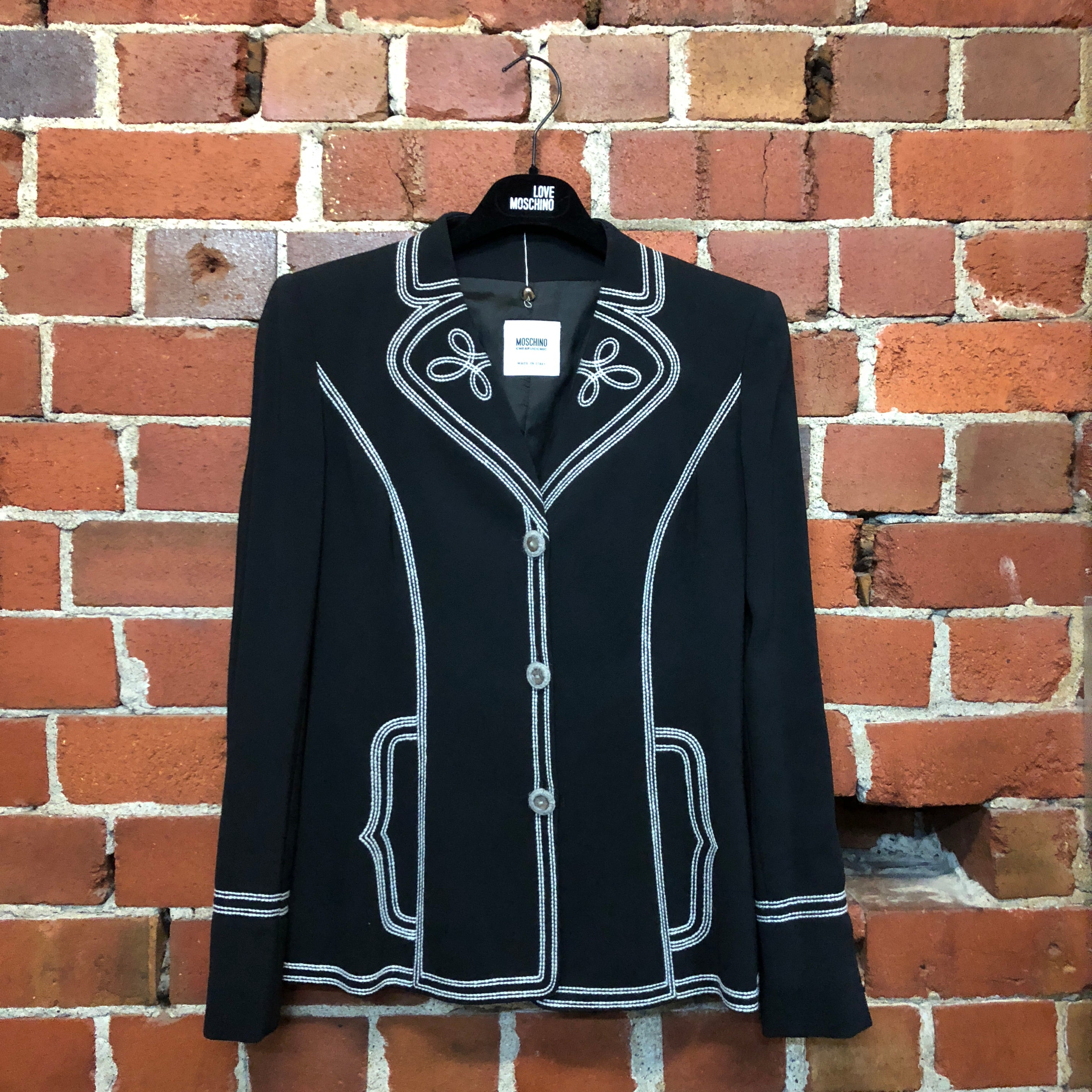 MOSCHINO wool stitched detail jacket