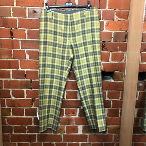 DRIES VAN NOTEN woven checked trousers