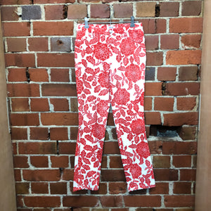 MOSCHINO crop floral jeans
