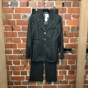 MOSCHINO pinstripe trouser suit!