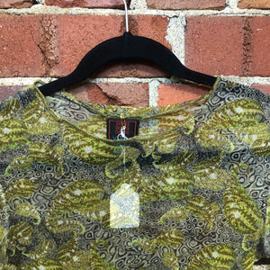 GAULTIER patterned 1990s mesh top