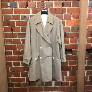 1960s gingham oversize light coat