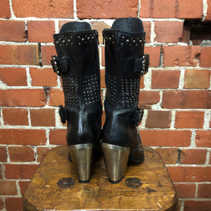 NEW ROCK studded western boots 41/40