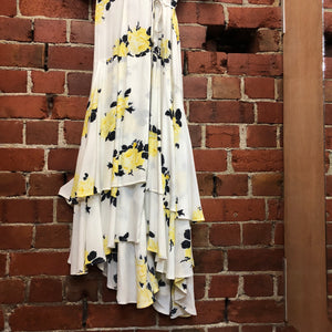 GANNI floral cross over dress