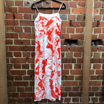 CARVEN body print maxi dress