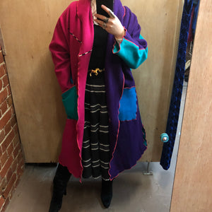 1980s CINDY OWINGS USA designer wool coat