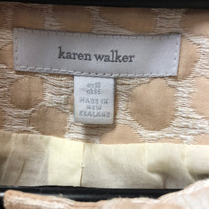 KAREN WALKER textured swing jacket