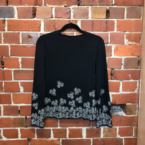 COMME DES GARCONS wool embroided top