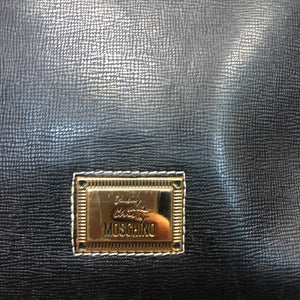 MOSCHINO leather handbag with strap