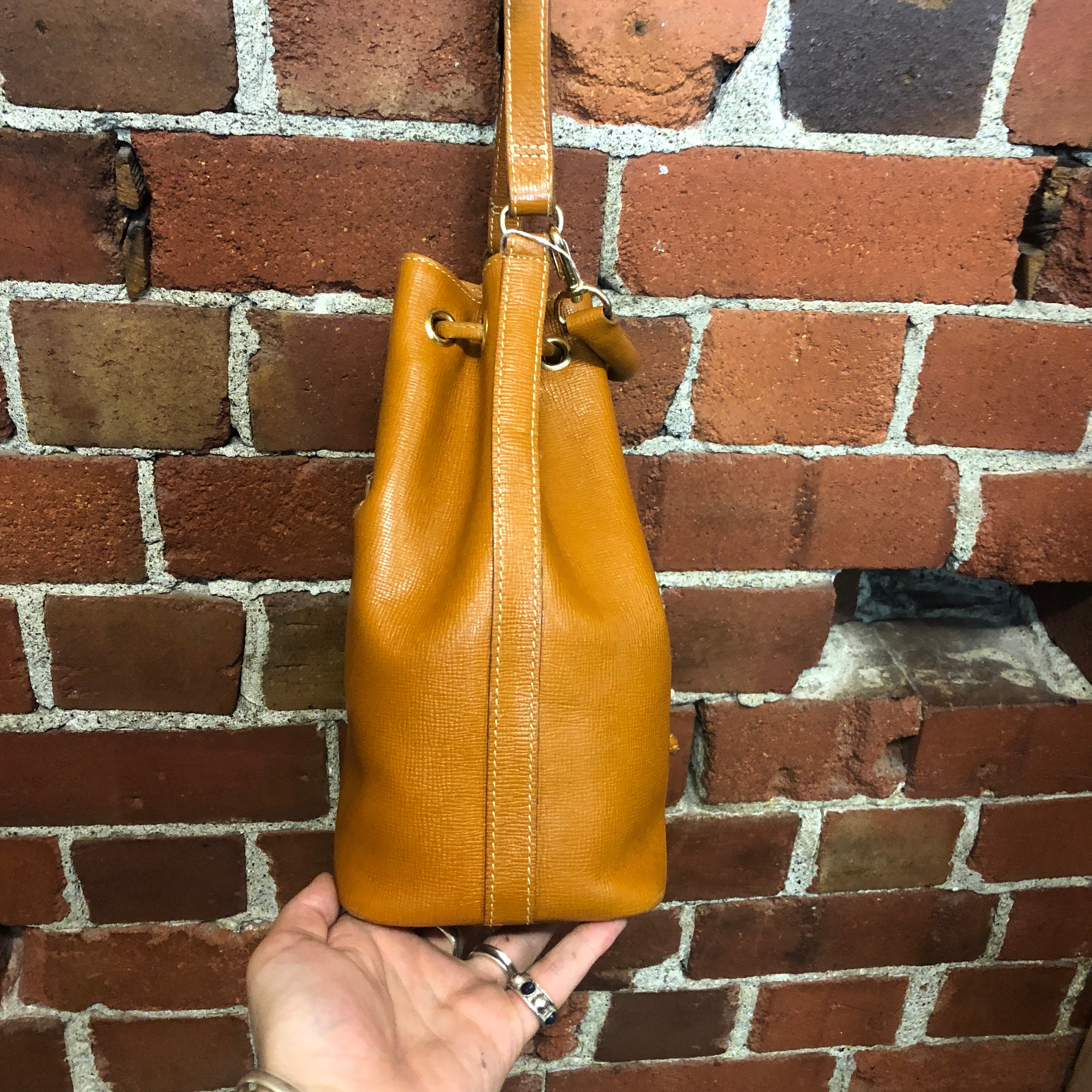 MOSCHINO 1990s leather tote bag