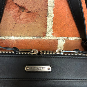 SAINT LAURENT leather satchel bag
