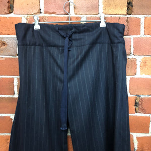 MASAMI wool pinstriped pants