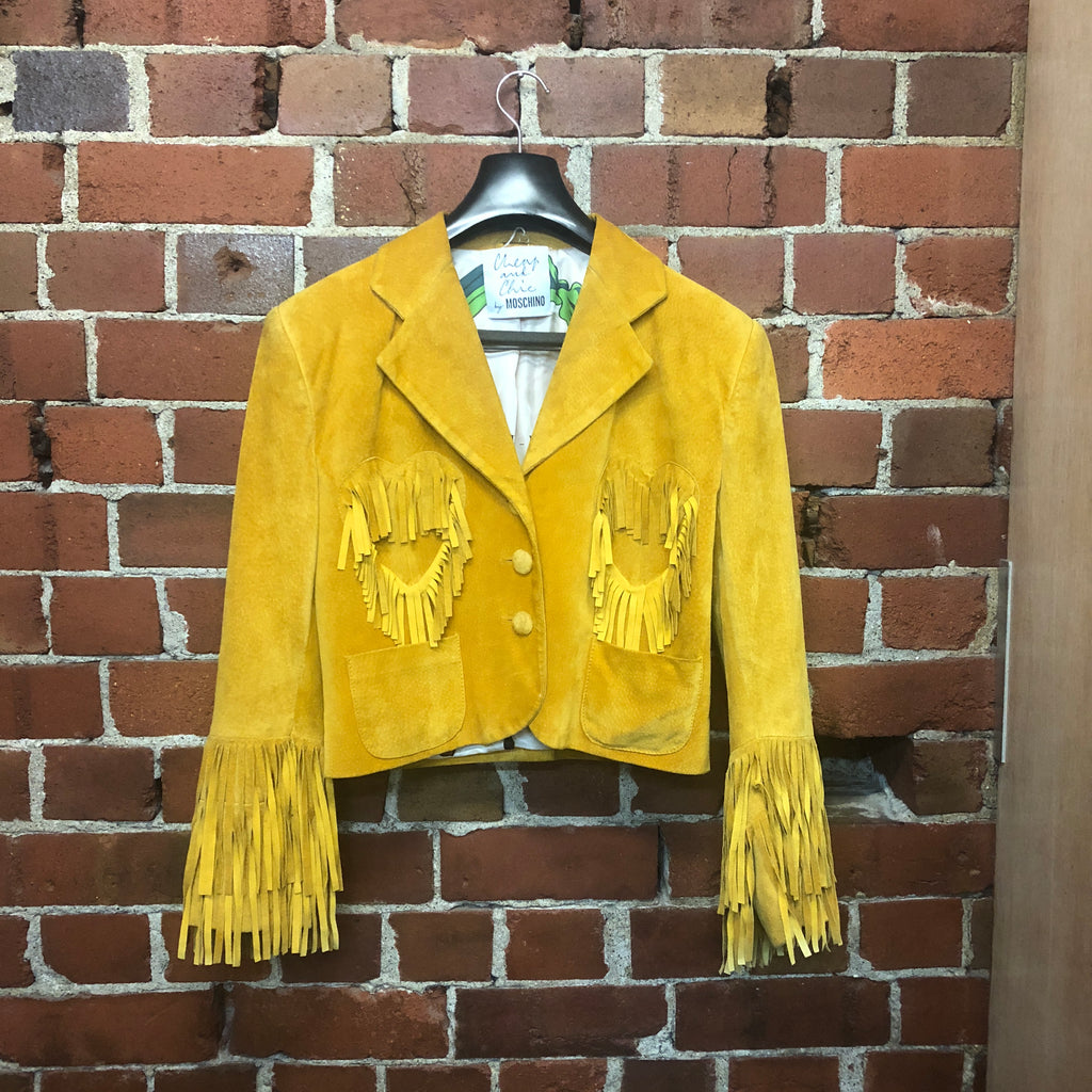 MOSCHINO 1990 incredible suede cowgirl jacket!!!