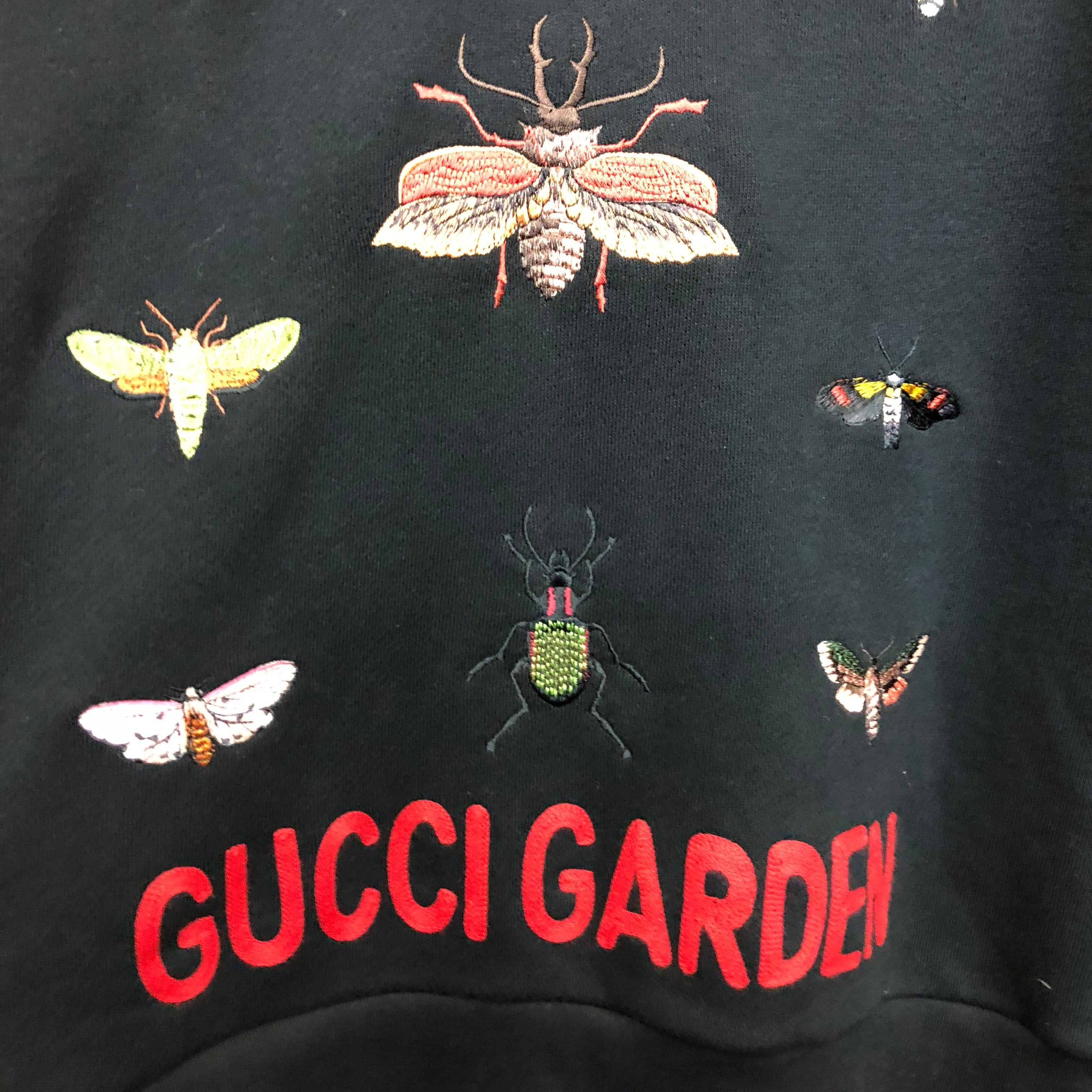 GUCCI 2018 bug embroidered hoody