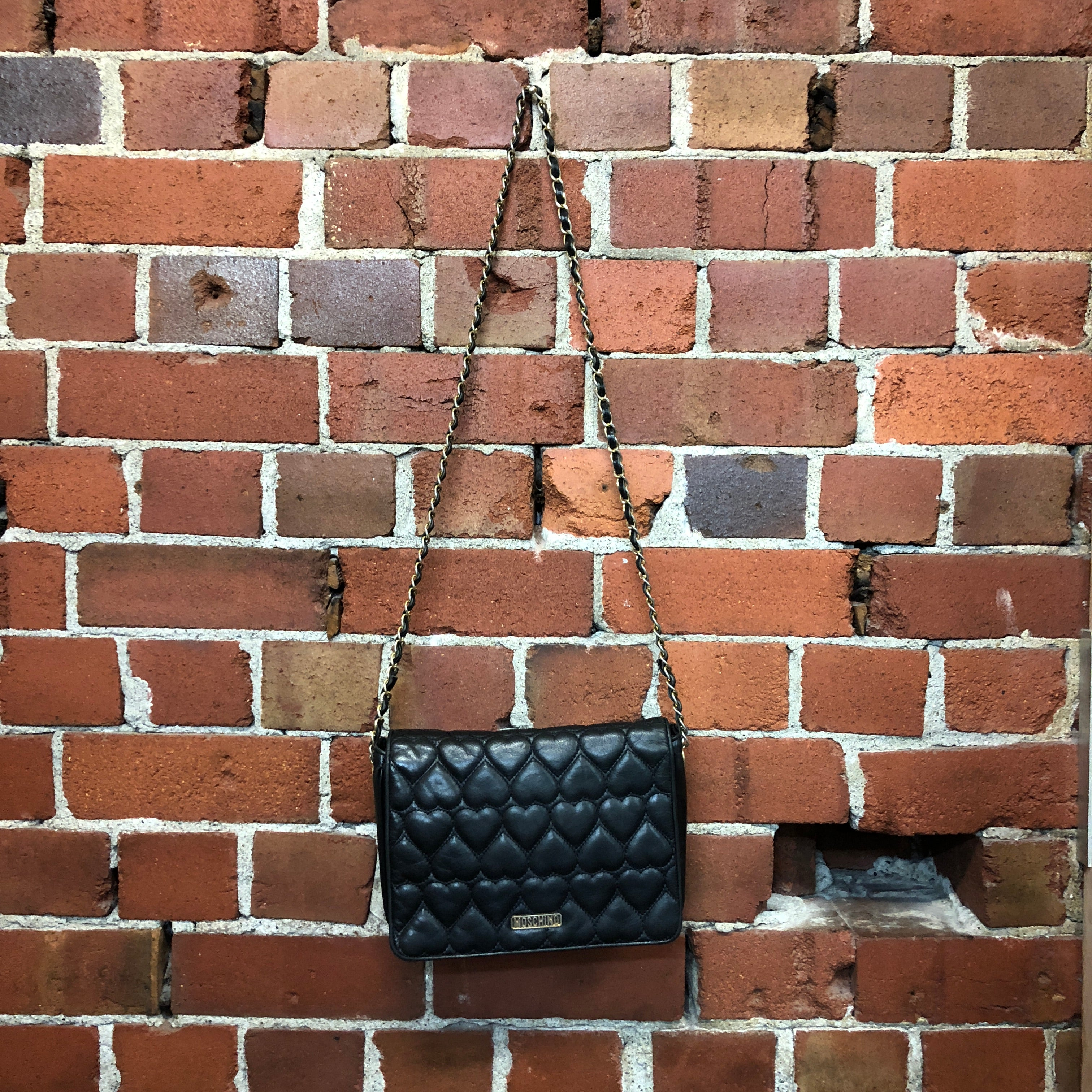 MOSCHINO quilted leather handbag