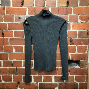 KAREN WALKER merino wool zip jumper