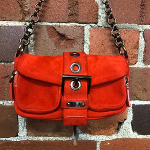 PRADA mini suede handbag