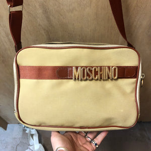 MOSCHINO 1990s satchel cross body bag