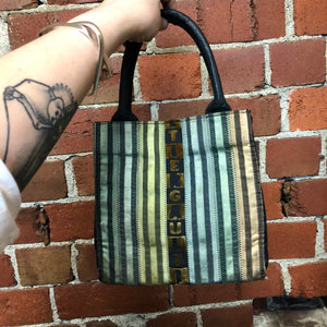 GAULTIER 1990's velvet striped bag