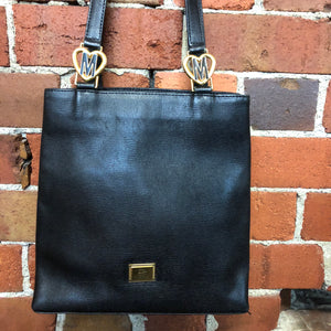 MOSCHINO leather tote shoulder bag