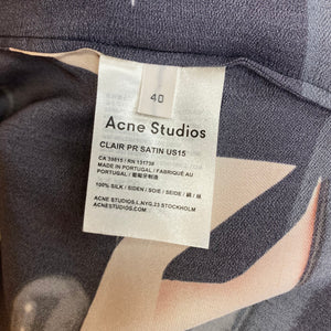 ACNE cocktail silk top