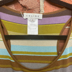 CELINE striped singlet