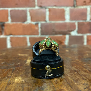10K gold and jade 1960s ring