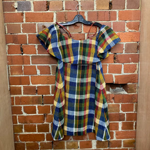 SUNO hessian tartan dress