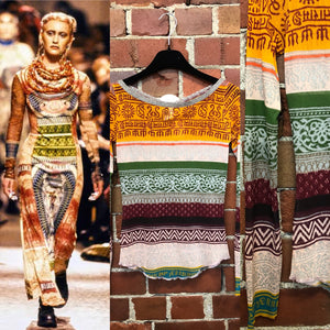 GAULTIER tribal tattoo mesh top