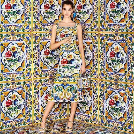 DOLCE AND GABBANA 2018 floral dress
