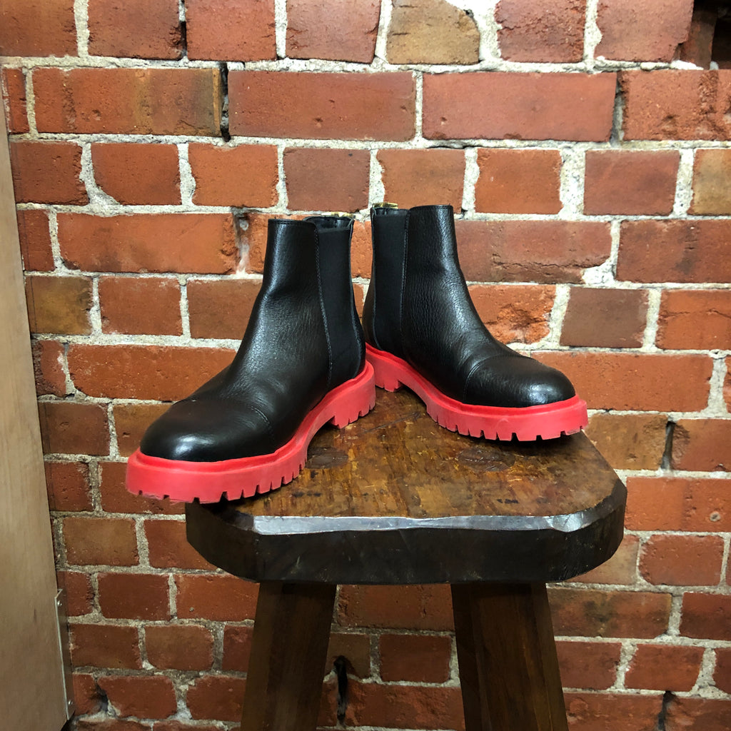 Red soles leather boots 36