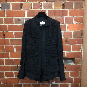 JUNYA WATANABE COMME DES GARCON incredible gathered fabric jacket