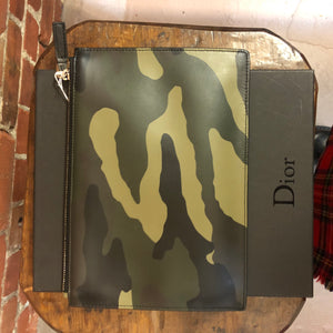 DIOR HOMME camo leather pouchette