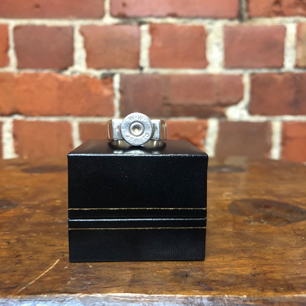 Winchester bullet solid sterling silver ring