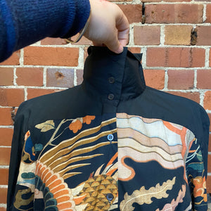 DRIES VAN NOTEN dragon print shirt