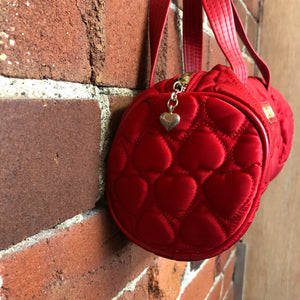 MOSCHINO ultra-mini satin quilted handbag!