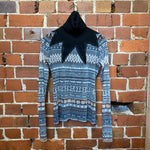 JEAN PAUL GAULTIER wool star neck top
