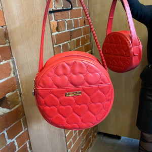 MOSCHINO heart quilted leather bag