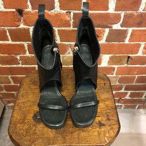 RICK OWENS leather platform sandals 41